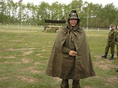 Russian USSR Cape Cloak Tent Military Field Canvas Army Poncho ПЛАЩ-ПАЛАТКА 4