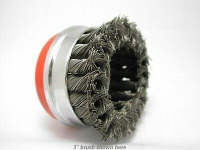 """2x 4"""" Bridle Knot Cup Brush 5/8-11nc angle grinder wire 4"""