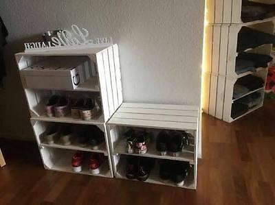 3x wei e obstkisten mit zwischenboden regal b cherregal holzkiste eur 34 99 picclick de. Black Bedroom Furniture Sets. Home Design Ideas