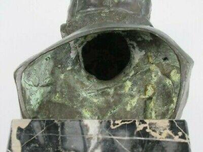 Importante Escultura Busto Niño Niño Pobre Fusión en Bronce en Mármol Xx Sec 10