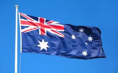 ** PRICE DROP ** HEAVY DUTY 1800x900 Australian Flag Polyester Sister Clips 5
