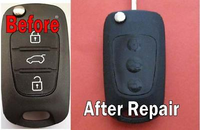 SUITS HYUNDAI REMOTE key fob i10 i20 i30- 3 Buttons Silicone Replacement  key pad