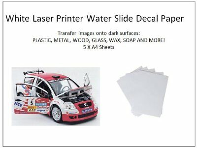 Water Slide Decal Paper A4 LASER Waterslide Transfer Paper – TEN PACK SIZES 10