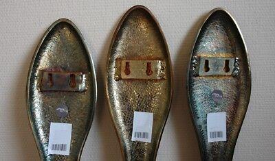 XXL Wand-Objekt Besteck Gold Wand-Dekoration Modern Groß Format L79 cm NEU