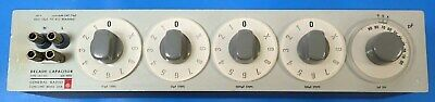 GENERAL RADIO 1412-BC DECADE CAPACITOR 15pF TO 1.11115uF GREAT FOR A TEST LAB 2