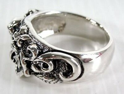 Rings Jewelry & Watches Love Natural Red Garnet Rose 925 Sterling Silver Ring Rocker Tattoo New Gothic