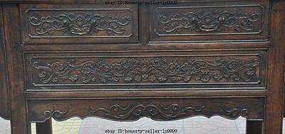 "44"" old chinese Antique Furniture Hand-carved huanghuali wood flower Tables Desk 4"
