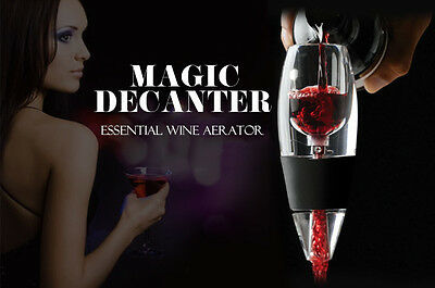 2x New Magic Decanter Essential RED Wine Aerator & Sediment Filter