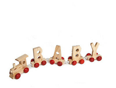 Personalized Letter Name wooden Train Birthday New Year Christmas Gift Toy 2