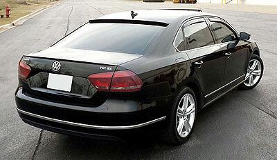 vw passat b7 sedan rear trunk spoiler lip wing sport trim. Black Bedroom Furniture Sets. Home Design Ideas
