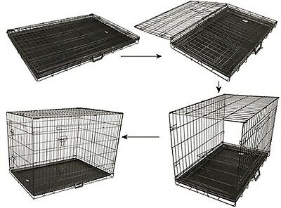 Collapsible Pet Dog Cage Wire Metal Crate Kennel Portable Puppy Cat Rabbit House 5