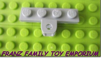 New LEGO Light Bluish Gray Stone 1x4 Plate Towball Socket Holes Brick Piece Part