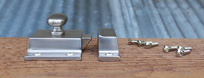 Reproduction Large Solid Brass Cabinet Latch ( Brushed Nickel) 8