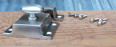 Reproduction Large Solid Brass Cabinet Latch ( Brushed Nickel) 7