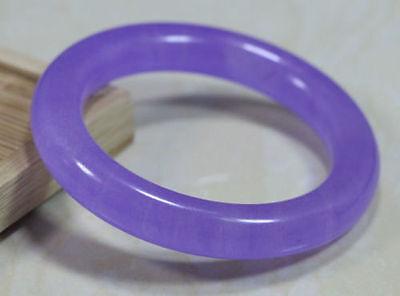 Chinese /&Natural purple Lavender Nephrite Jade// Gems Bracelet Bangle 58-64MM