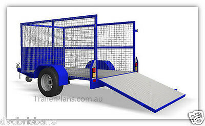 Trailer Plans - CAGE TRAILER PLANS - 3 sizes - 7x4, 8x5 & 9x5ft- PLANS ON CD-ROM 4