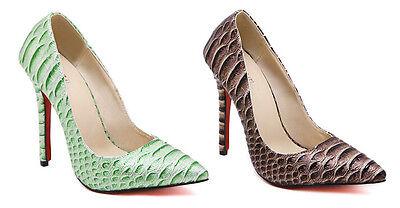 ... 4 di 6 stiletto Scarpe decolte eleganti donna tacco spillo 11 verde  comode 9316 5 a383ac77a48