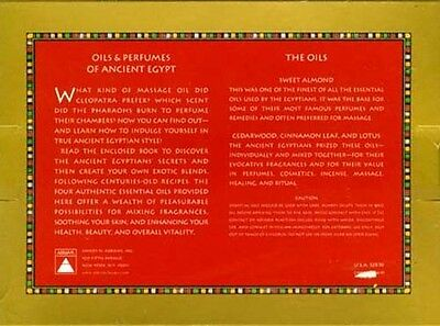 NEW British Museum Oils & Perfumes of Ancient Egypt Lotus Almond Cedar Scents