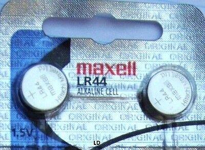 LR44 Maxell (10 piece) LR44 MAXELL A76 L1154 AG13 357 New Alkaline Battery 3