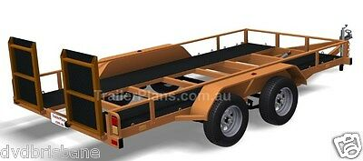 Trailer Plans - TILT FLATBED CAR TRAILER PLANS (14x6ft) - 2500kg - PLANS ON USB 11