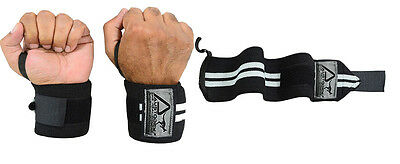 Austodex  Weight Lifting Gym Training Wrist Support Straps Wraps Bodybuilding 2