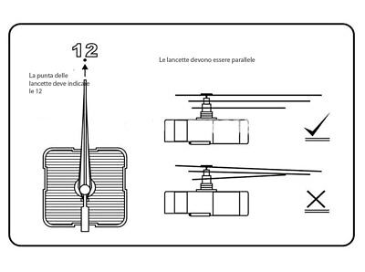 Meccanismo movimento ingranaggio OROLOGIO parete quarzo+3 lancette NERE lunghe