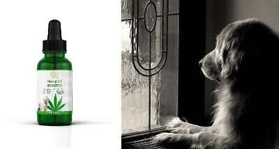 Hemp oil for Dogs Cats Pet Organic Supplement Anxiety Relief Joint Pain Natural 2