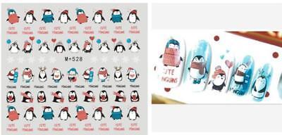 3D Nail Art Stickers Water Decals Cartoon Christmas Set 9