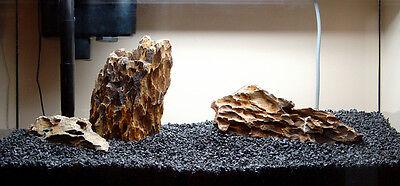 15 KG NATURAL BLACK AQUARIUM GRAVEL 2-5mm AQUASCAPING IWAGUMI IDEAL FOR PLANTS 8