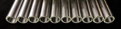 """16 mm OD 10 mm ID 2.7 mm wall,  Glass Tubing a set of (5) pieces  CLEAR 10 """" L 2"""