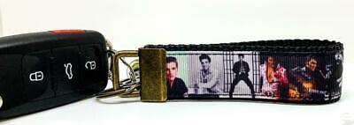 "Coca Cola Key Fob Wristlet Keychain 1/""wide Zipper pull Camera strap handmade"