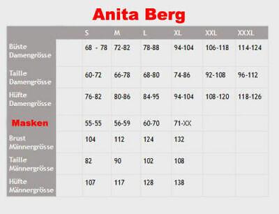 Anita Berg Latex Shorts ab4287 Pants Gr L rot Rubber Gummi ouvert Schritt offen 4