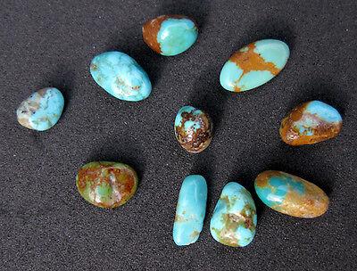 Kingman AZ Turquoise Natural Nugget LOT specimen Rock Lapidary Crystal Healing 2