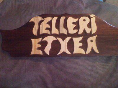 LETRERO de madera personalizado, ROTULACIÓN artesanal 10