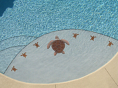 MINI LOGGERHEAD TURTLE Ceramic Swimming Pool Mosaic