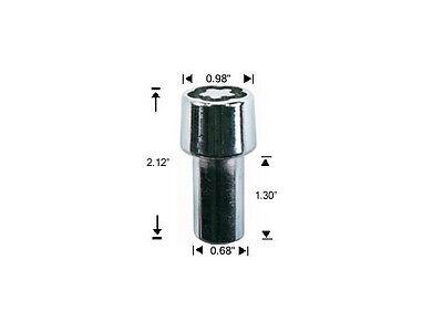 PUZZLE KEY ANTI THEFT SECURITY LUG NUTS 12x1.25 ACORN WHEEL LOCKS 1 4