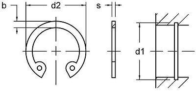 Circlip Retaining Ring 4-17 mm Snap Ring External & Internal Spring Steel 3