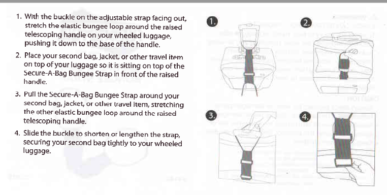 Secure-A-Bag Bungee Strap by American Tourister for Carry-Ons Suitcase, Baggage 4