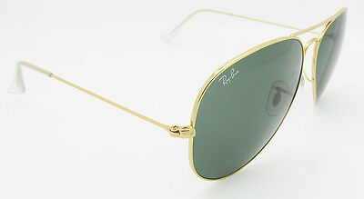 2cd43a422b3 4 of 10 Ray Ban Aviator RB 3026 L2846 Gold Frame G15 Green Lens Large 62mm  Sunglasses