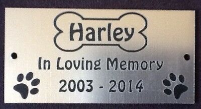 Personalised Pet Dog Memorial Plaque - Various Colours 3