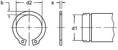 Circlip Retaining Ring 4-17 mm Snap Ring External & Internal Spring Steel 2