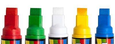 Rainbow Chalk Liquid Chalk Pen 15Mm Broad Nib 5 Pack Assorted Use On Blackboards 2