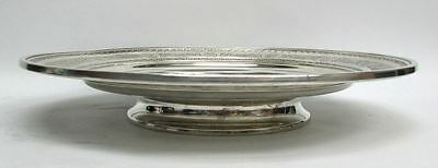 International 1924 Wedgwood Pattern Sterling Silver Low Footed Cake Plate #H86 11