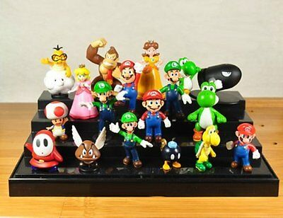 18x Menge Super Mario Bros Brothers Yoshi Action Figuren Spielset Kind Spielzeug