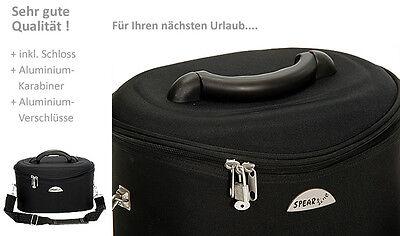 Schminkkoffer Beauty Case Kosmetikkoffer Beautycase Damen Koffer bag 531 Schwarz 10