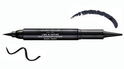 NEW Laura Geller Line-N-Define Dual Dimension Kohl & Liquid Eyeliner - Black 4