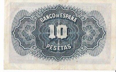 España: 10 Pesetas Certi. Plata (Ii Republica). Año 1935. Con Serie. Mbc-. Ideal 2
