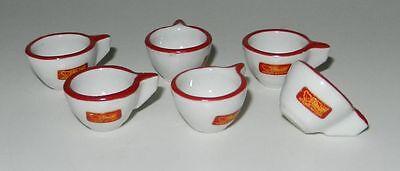 Original Steiff Zubehör 6 kleine Porzellan Tassen 1,5cm hoch + 1 Kännchen