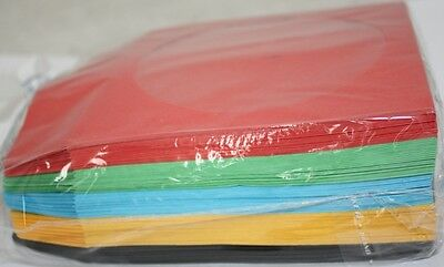 CD CDR DVD DVDR ASSORTED COLOR paper SLEEVE 100PC