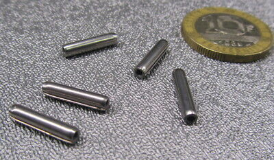 """420 Stainless Steel Coiled Spring Pin, 7/64"""" Dia x 1/2"""" Length, 25 pcs 10"""